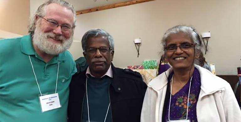 Dr. Bruce Cook with Dr. Abraham and His Wife from India